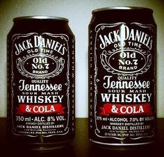 Pre-mixed Jack & coke. Its actually pretty good.