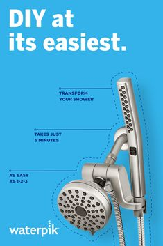 It's So Easy to Install a Waterpik® Shower Head Diy Bedroom Decor, Diy Home Decor, Diy Home Repair, Home Repairs, Diy Home Improvement, Shower Heads, Home Projects, Woodworking Plans, Home Remodeling