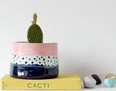 Ceramic Planters, Planter Pots, Cactus Pot, Small Potted Plants, Desert Dream, Pastel Decor, Succulent Pots, Ceramic Art, Pottery