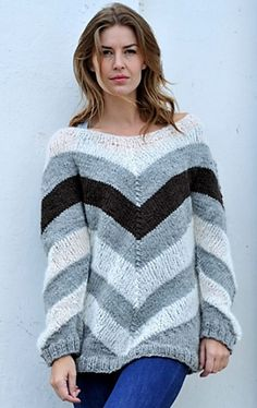 Ravelry: Stribet sweater pattern by Marina Aabo