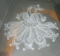 Peacock Rangoli, Indian Rangoli, Kolam Rangoli, Simple Rangoli, Krishna Leela, Baby Krishna, Small Rangoli Design, Beautiful Rangoli Designs, Rangoli With Dots