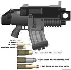 wh40khq:  Space Marine Bolt Rifle by ~dirtbiker715  (via dragonherring)    Space Marine Bolt Rifle by dirtbiker715.deviantart.com