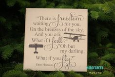 Pilot Gift What if i fall oh my darling by HorsecreekPrimitives