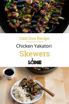There's so much to love about a skewer meal. For starters, it's an entire meal you cook at one time and every bit of your food gets that incredible grill flavor. It's also easy to scale portions, whether you're cooking for two or a crowd. This Chicken Yakitori Skewer recipe delivers a delightful umami flavor thanks to the sesame oil, followed by a tang from the rice wine vinegar.