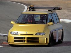 """Renault Espace F1 - the """"minivan"""" with a Formula 1 drivetrain and suspension. Built by Matra to recognize Renault's involvement in F1. Powered by an 800 HP version of the 3.5 litre 4-valve V-10 engine from the 1993 Williams-Renault FW15C F1 engine. See the video walk-around on our YouTube site."""