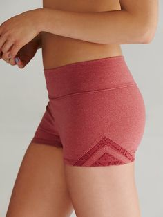 Free People Geo Insert Yoga Shorts at Free People Clothing Boutique