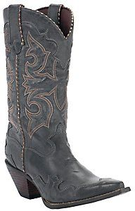 Durango® Crush™ Ladies Smoke Grey Burnished Rock N Scroll Snip Toe Western Boots