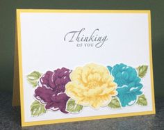 Stampin' Up Handmade Thinking of You Card