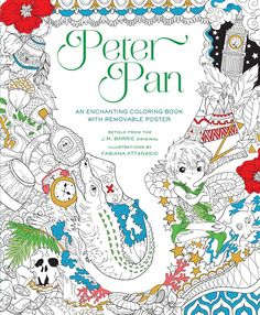 Unique Adult Coloring Books-Color Beloved Novels, Movies and TV Series, Here we have the delightful and beloved Peter Pan