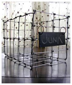 I am loving these baskets and since they look as if they are made from recycled wire I thought Id share.