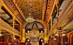 The interior of the Tempel Synagogue in Krakow, Poland