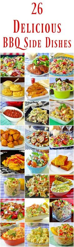 26 Best Barbecue Side Dishes - so many easy recipes to choose from! These dishes are great ideas for weekday dinner side dishes too. #BBQ #barbecue #sidedish #pastasalad #potatosalad