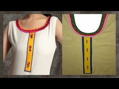 How To Cut And Stitch Bias Strips | Round Neckline With Piping | Long Square - YouTube