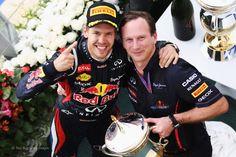 Sebastian Vettel, Christian Horner, Red Bull, Bahrain, 2012