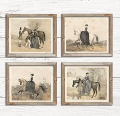 Vintage Inspired Decor for Any Home by TheBarnyardMarket on Etsy Deer Print, Horse Print, Decoration, Art Decor, Equestrian Decor, Equestrian Style, Equestrian Bedroom, Deer Illustration, Illustrations