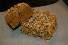 Grain Free, Dairy Free, Sugar Free Blondies AND great tips for surviving birth of new baby or just busy life