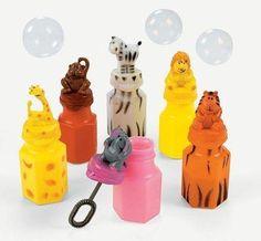 12 Safari Zoo Animal Sipper Cups OTC