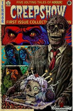 The King Of Anthology Horror. Horror Movie Characters, Horror Movie Posters, Dark Comics, Comic Layout, Horror Artwork, Zombie Art, Classic Horror Movies, Horror Show, Horror Comics