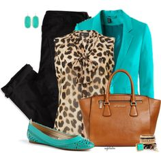 """""""Turquoise, Tan and Black"""" by angkclaxton on Polyvore"""