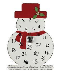 Loving this Metal Snowman Advent Calendar & Glass Magnet on #zulily! #zulilyfinds
