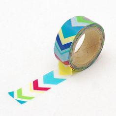 Colorful Chevron Washi tape Rainbow Masking Tape by LoveMyTapes