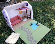 Fabric Cake: Fabric Dollhouse!