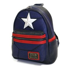 Find Loungefly x Marvel Captain America Costume Cosplay Mini Backpack online. Shop the latest collection of Loungefly x Marvel Captain America Costume Cosplay Mini Backpack from the popular stores - all in one Captain America Star, Captain America Cosplay, Captain America Merchandise, Mini Mochila, Backpack Online, Backpack Purse, Mens Mini Backpack, Floral Backpack, Marvel Backpack