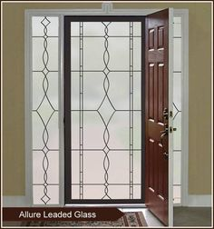 Allure frosted window covering is simplicity at it's best. What a stunning look for glass front door privacy or sidelight window privacy. Choose from black or w