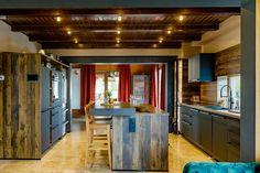 Open-space kitchen with island configuration. #islandkitchen #islandkitchendesign #kitchen #modernkitchen #kitchendesign #kitchenfurniture #kitchenideas #KUXAstudio #KUXA #KUXAkitchen #bucatariemoderna #bucatarieinsula Furniture, Kitchen, Table, Design, Studio, Island, Home Decor, Cooking, Decoration Home