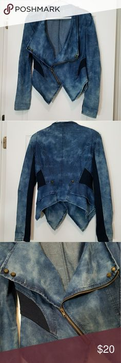 Stunning Papaya Jean Jacket Pre-owned jacket in good shape. Looks amazing with slim pants, heals and choker. Papaya Jackets & Coats Jean Jackets