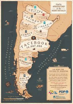 Primer mapa argentino de las redes sociales Spanish Vocabulary, Web Project, F 16, Disney Memes, Marketing, It Works, Social Media, Mendoza, Latin America