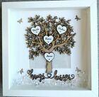 Family tree Box Frame Scrabble Gift. Birthday Gift For Family Grandparents | eBay Christmas Birthday, Christmas Wedding, 50th Birthday, Birthday Gifts, Christmas Gifts, Scrabble Frame, Scrabble Art, Personalised Family Tree, Personalised Box