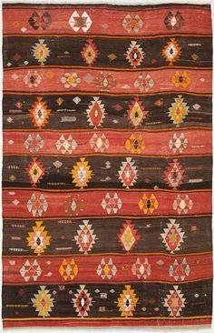 """Anatolian Kilim 5'1""""x10'0"""": Kilim Rugs, Dhurry Rugs, Tribal Rugs, Flatweave Rugs - ABC Carpet & Home"""