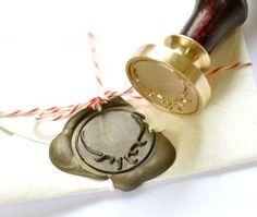 Deer Antler Gold Plated Wax Seal Stamp & Sealing Wax