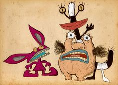 AAAAAH! Real Monsters! Ickis, Oblina and Krumm...yes, I remember their names.