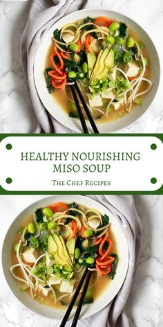 This healing, healthy, vegan miso soup is a comforting one pot meal sure to soothe body and soul. Miso soup is a clement, soup based sou. Healthy Detox Soup, Healthy Soup Recipes, Cooking Recipes, Healthy Fall Soups, Lunch Recipes, Vegan Miso Soup, Vegetarian Soups, Miso Recipe, Fresh Potato