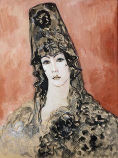 Francis Picabia (1879 - 1953)  Spanish woman with mantilla (Espagnole a la mantille), 1926-1927
