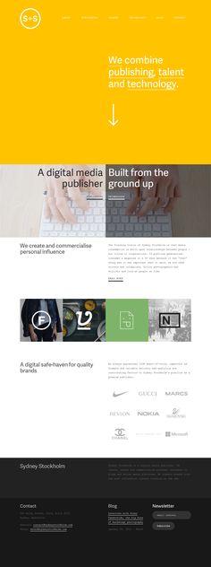 Sydney Stockholm, 26 February 2014. http://www.awwwards.com/web-design-awards/sydney-stockholm #OnePage #Clean #Inspiration #WebDesign #HTML5