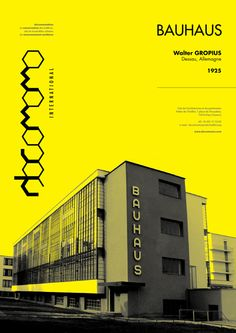 Bauhaus Poster by Skyl David Layout Design, Graphic Design Layouts, Graphic Design Posters, Graphic Design Typography, Graphic Design Illustration, Graphic Design Inspiration, Print Design, Poster Layout, Poster S