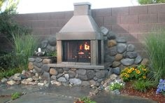 The Perfect Outdoor Fireplace to be featured on an upcoming episode of Yard Crashers on HGTV! Outdoor Fireplace Kits, Diy Fireplace, Outdoor Fireplaces, Modern Backyard, Backyard Landscaping, Backyard Ideas, Backyard Patio, Landscaping Ideas, Outdoor Rooms