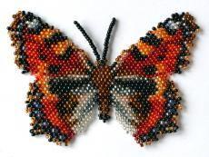 Butterfly Aglais Urticae Beading Pattern by Katherina Kostinsky at Bead-Patterns.com