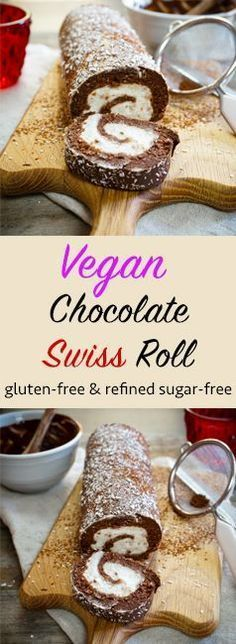 The Tasty K | Vegan Chocolate Swiss Roll | http://thetastyk.com replace oats and almonds