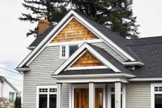 these cedar shakes are a great way to add detail to your homes exterior!