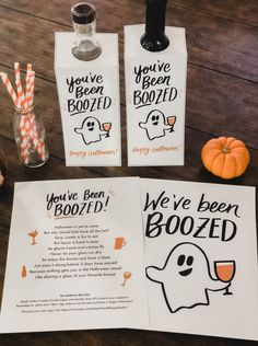 You've Been Boozed We've Been Boozed Printable Halloween 2020, Holidays Halloween, Halloween Treats, Halloween Decorations, Halloween Teacher Gifts, Halloween Party Ideas For Adults, Holloween Party Ideas, Halloween Candy Crafts, Halloween Wall Decor