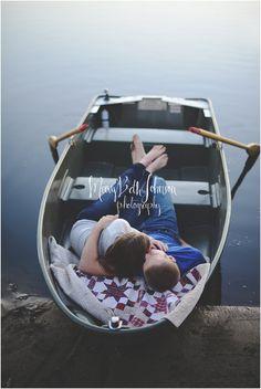 Lewis & JoEllen Engaged! North Judson Indiana Photographer #engagement #photography #boat