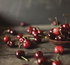 sweet cherries for a cherry almond crumble | by hannah * honey & jam