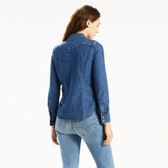 Levi's Tailored Western Shirt Chambray - Women's S