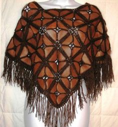 crochet and leather - Yarn and knitting - Crochet Coat, Crochet Shawl, Crochet Clothes, Crochet Stitches, Crochet Fabric, Leather Scraps, Bag Pattern Free, Leather Diy Crafts, Fashion D