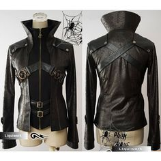 """Everything on this site is fantastic. Found several coats I want very much.  """"Trendy Mens Womens Cyber Goth Emo Punk Rock Clothing Jacket"""" SKU-11401036"""
