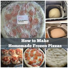 How to Make Homemade Frozen Pizzas. Freezer cooking pizza recipe. This is a must have recipe for back to school.